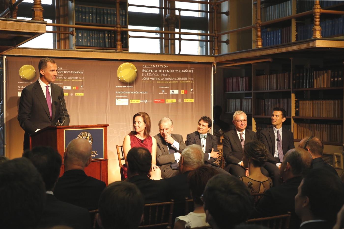 Visita de Felipe VI a la Universidad de Georgetown